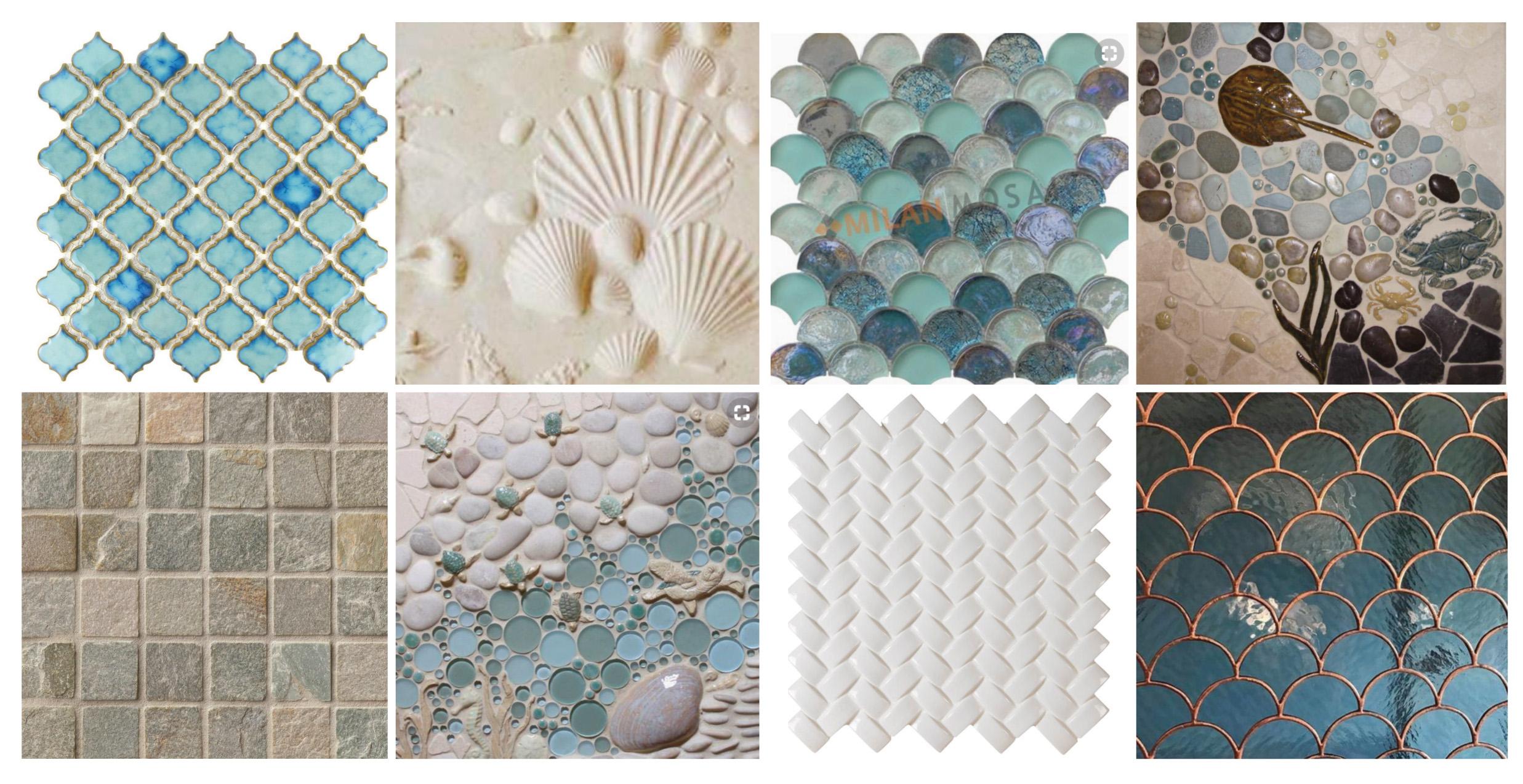 - Decorative Tile With A Coastal Theme  